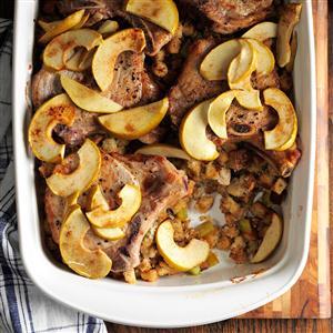Sunday Chops and Stuffing Recipe