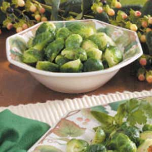Basil Brussels Sprouts