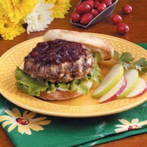 Cranberry Turkey Burgers Recipe