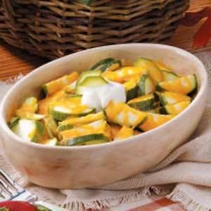 Cheddar Zucchini Slices Recipe