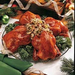 Currant-Glazed Cornish Hens Recipe