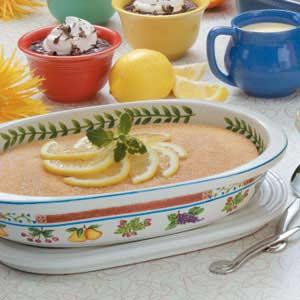 Lemony Baked Pudding Recipe
