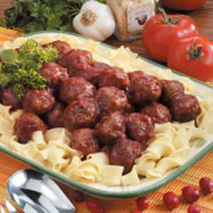 Picante Cranberry Meatballs Recipe