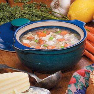 Lemony Chicken Noodle Soup Recipe