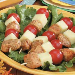 Cold Chicken-Cheese Kabobs Recipe