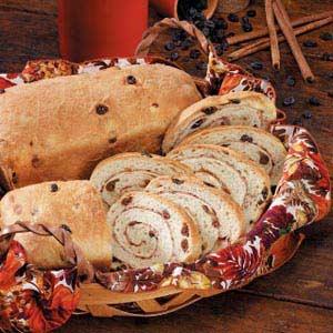 Cinnamon-Swirl Raisin Bread Recipe