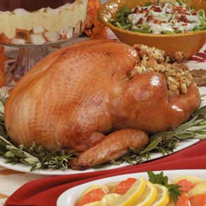 Turkey with Herb Stuffing Recipe