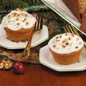 Frosted Pumpkin Muffins Recipe