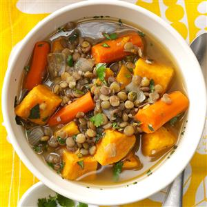 Sweet Potato Lentil Stew Recipe