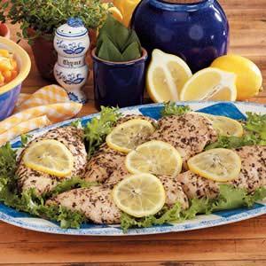 Seasoned Lemon Chicken Recipe