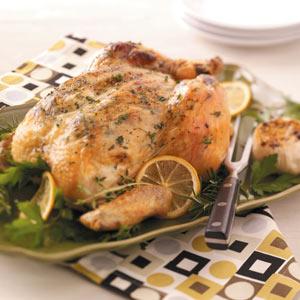 Garlic-Herb Roasted Chicken Recipe