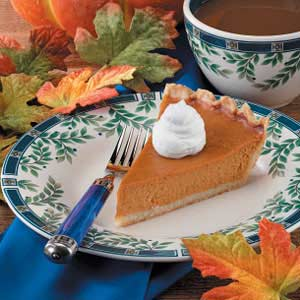 Baked Maple Pumpkin Pie Recipe