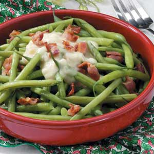 Beans with Celery Bacon Sauce Recipe