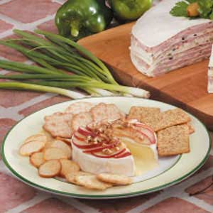 Brie with Pear Topping Recipe