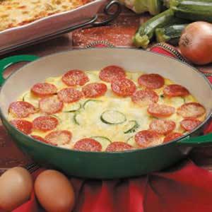Pepperoni Frittata Recipe