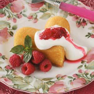 Raspberry Cake Hearts Recipe