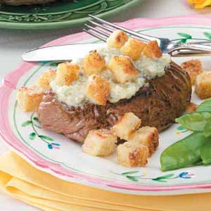 Beef Steaks With Blue Cheese Recipe