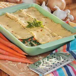 Spinach Vegetable Lasagna Recipe