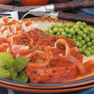 Pork Chops with Pizza Sauce Recipe
