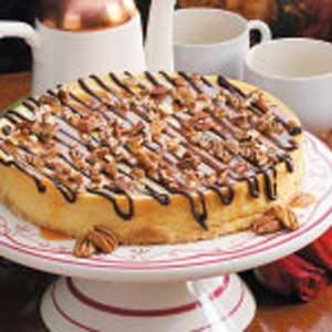 Chocolate-Caramel Topped Cheesecake Recipe