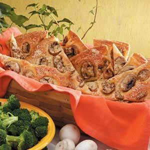 Mushroom Bread Wedges Recipe