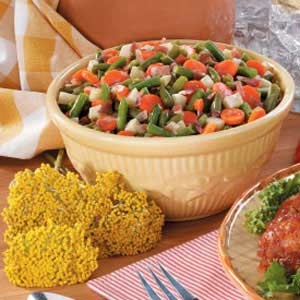 Sweet-Sour Beans and Carrots Recipe