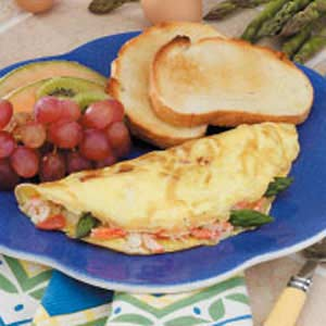 Asparagus Crab Omelets Recipe