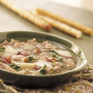 Spinach Sausage Soup Recipe