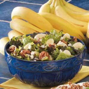 Banana-Nut Green Salad Recipe