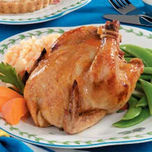 Apricot-Glazed Cornish Hens for Two Recipe