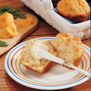 Dill and Cheddar Muffins Recipe