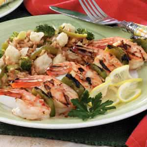 Fiery Skewered Shrimp