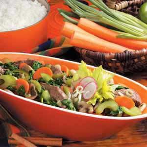 Spinach Beef Stir-Fry Recipe