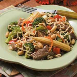 Beef with Ramen Noodles Recipe