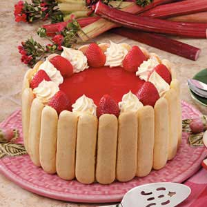 Rhubarb Strawberry Torte Recipe