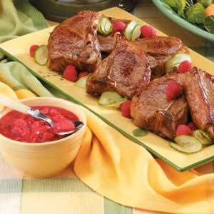 Lamb with Raspberry Sauce Recipe