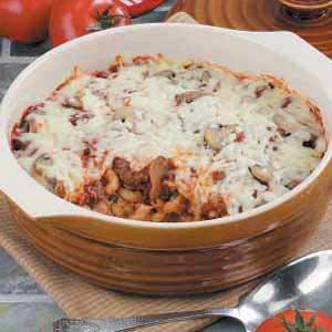 Pasta Pizza Venison Bake Recipe