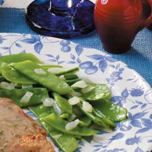 Pea Pods with Onion Recipe