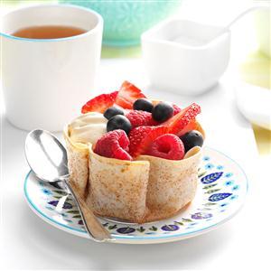 Coffee Cream Tortilla Cups Recipe