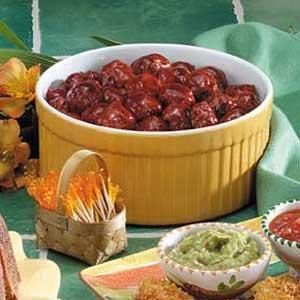 Saucy Cherry Meatballs Recipe