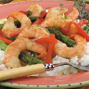 Lime Shrimp with Asparagus Recipe