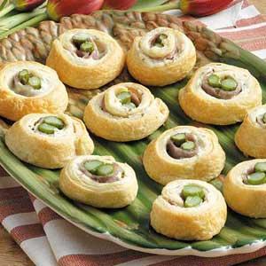 Asparagus Ham Spirals Recipe