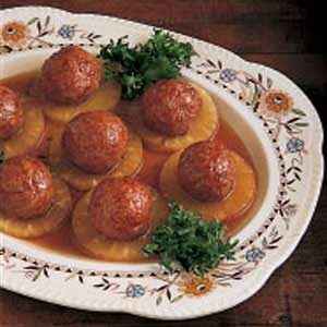 Pineapple Ham Balls Recipe