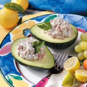 Tuna-Stuffed Avocados Recipe
