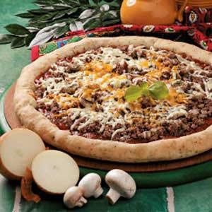String Cheese Stuffed-Crust Pizza Recipe