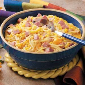Pasta Ham Hot Dish Recipe