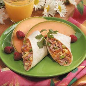 Ham n Egg Breakfast Wrap Recipe