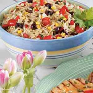 Herb Vegetable Orzo Salad Recipe