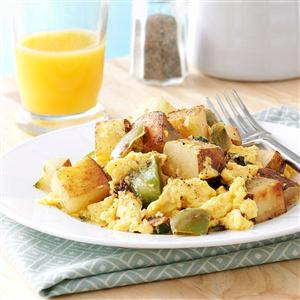Potato Basil Scramble Recipe