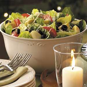 Lemon Artichoke Romaine Salad Recipe
